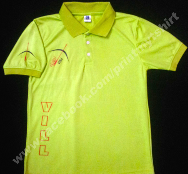 Uniform Collar tshirt with printing in jersey materail