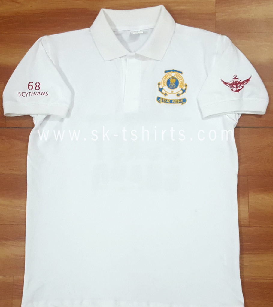 Custom cotton polo tshirt with embroidery and printing