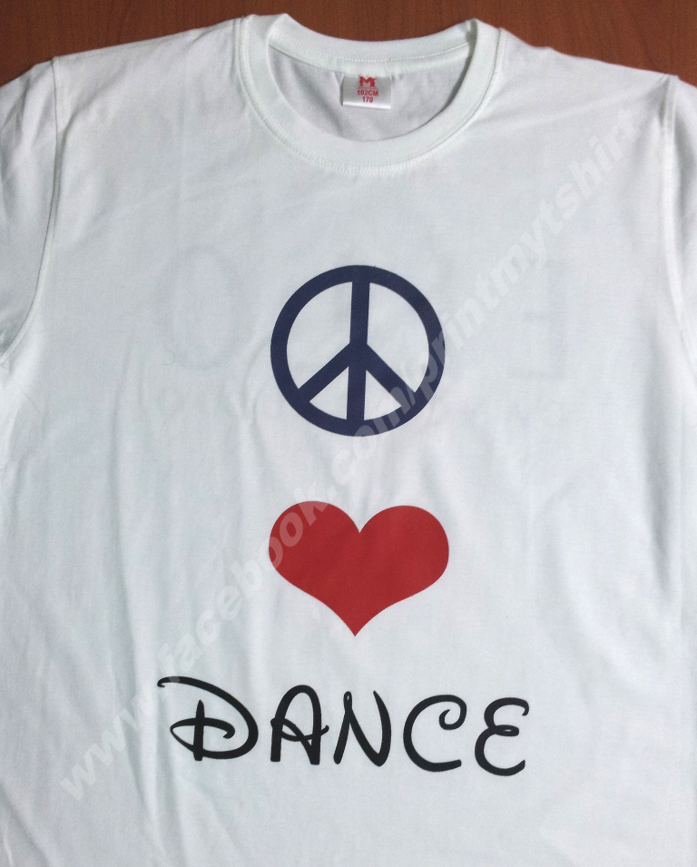 Dance class T shirt with printing