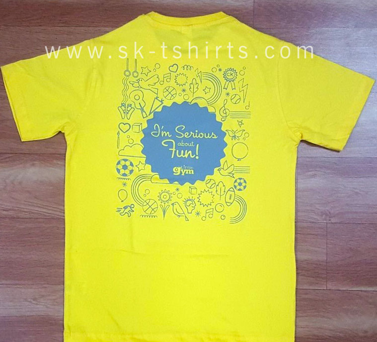cotton kids tshirt with custom printing
