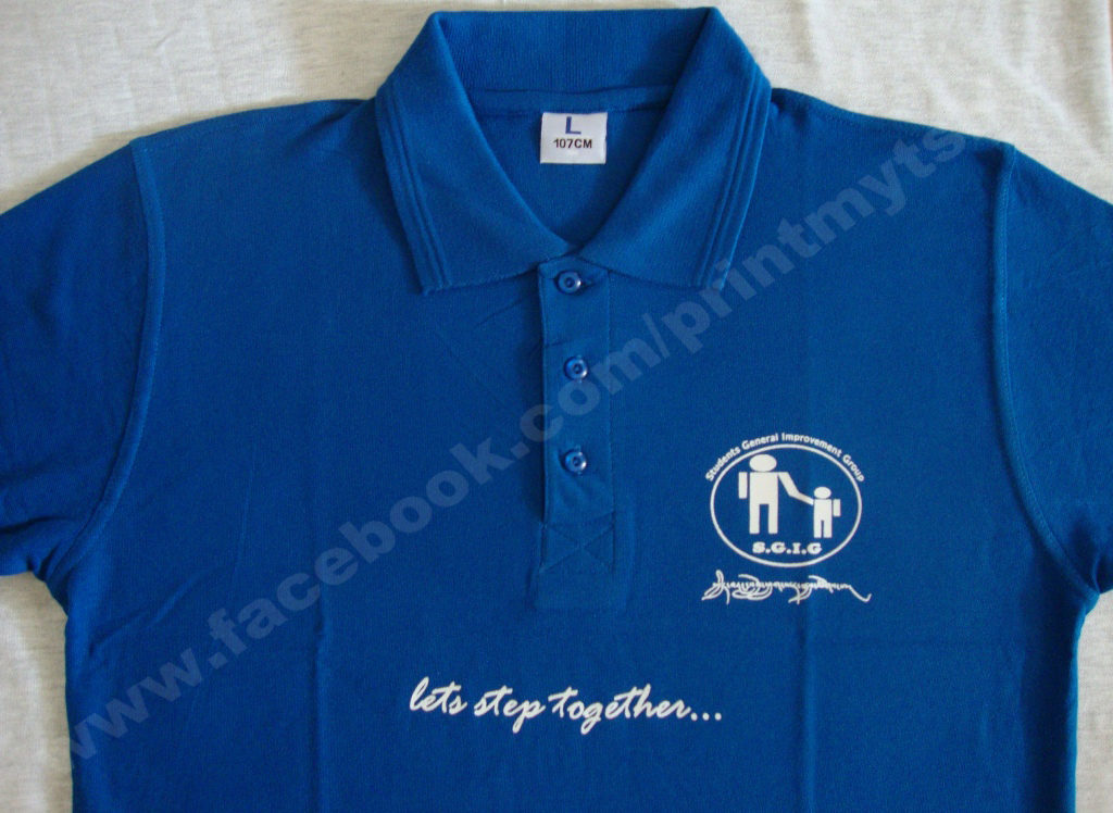 Uniform polo t.shirt with logo printing
