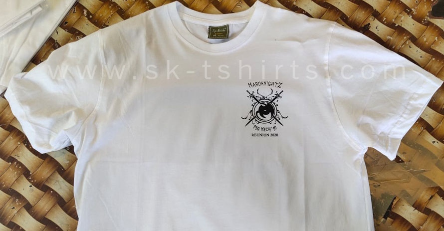 White Round Neck Tshirt with custom printing