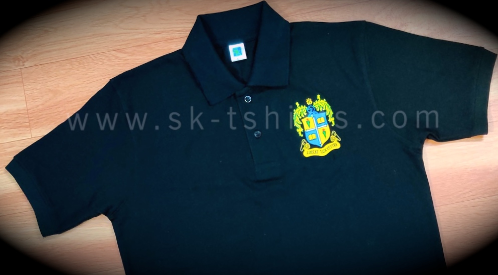custom corporate polo t.shirt with logo embroidery