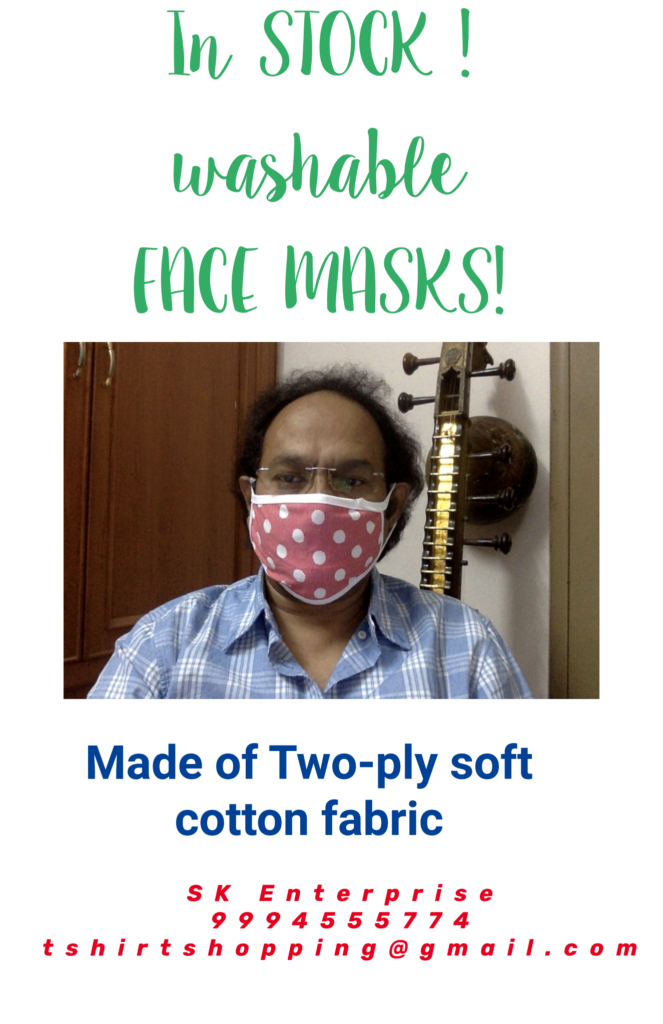 Washable two-ply Cloth face masks in stock