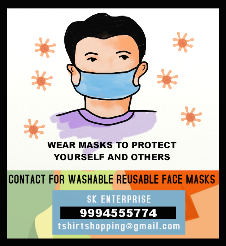 Manufacturers of washable cloth mask in Tirupur