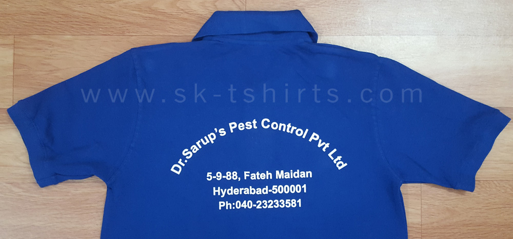 Custom uniform polo t shirts at Hyderabad
