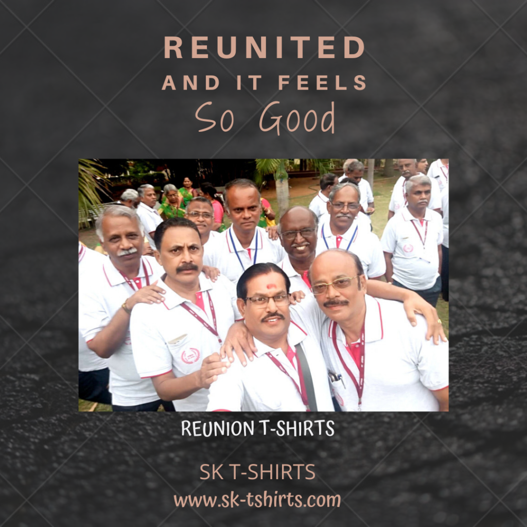 Want to order t-shirts for our school reunion / college reunion? Delivery at Chennai, Bangalore, Coimbatore, Hyderabad, Cochin, Trivandrum, Pune, Mumbai and Delhi