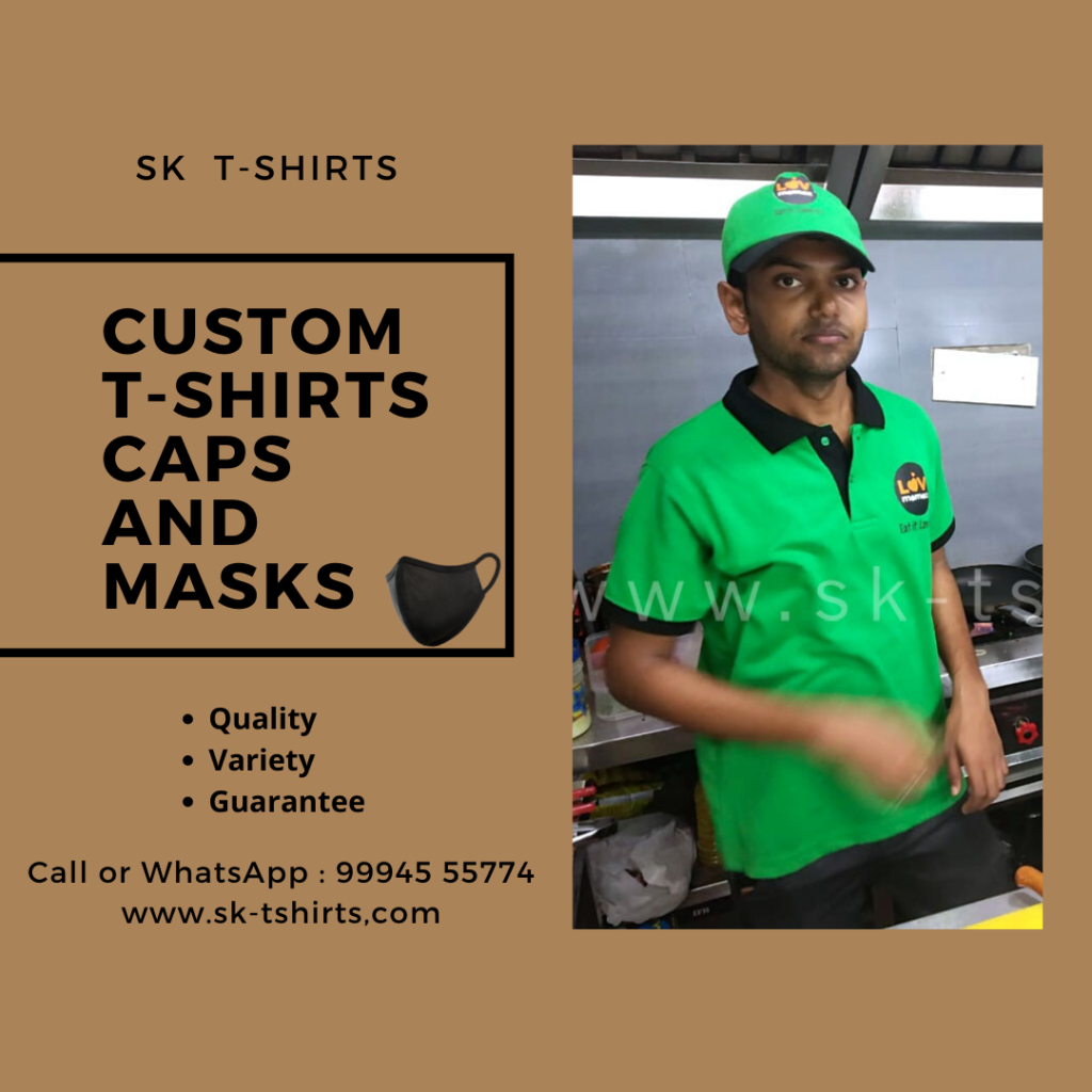 Custom t-shirts, Custom Caps and Custom Face Masks in Chennai