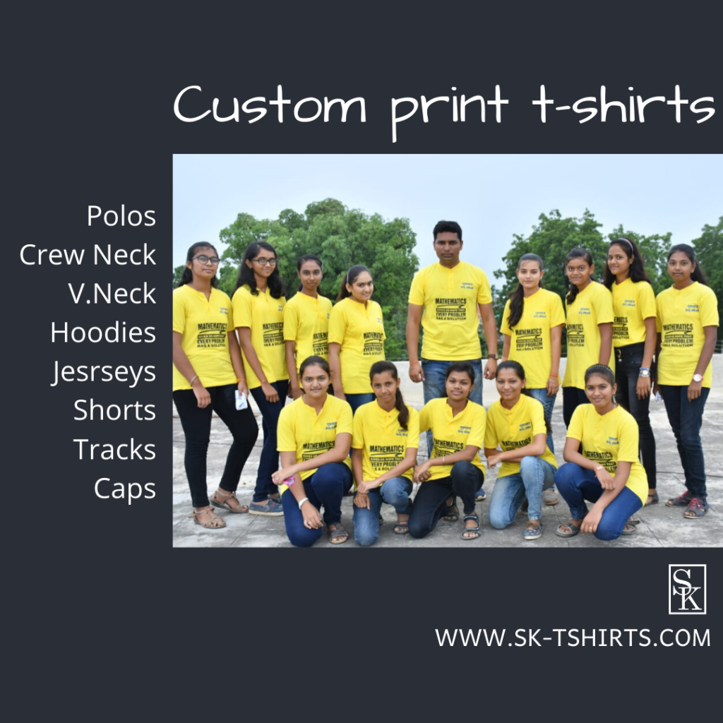 Where to get Custom print        t-shirts in bulk? They deliver all over India free of cost.
