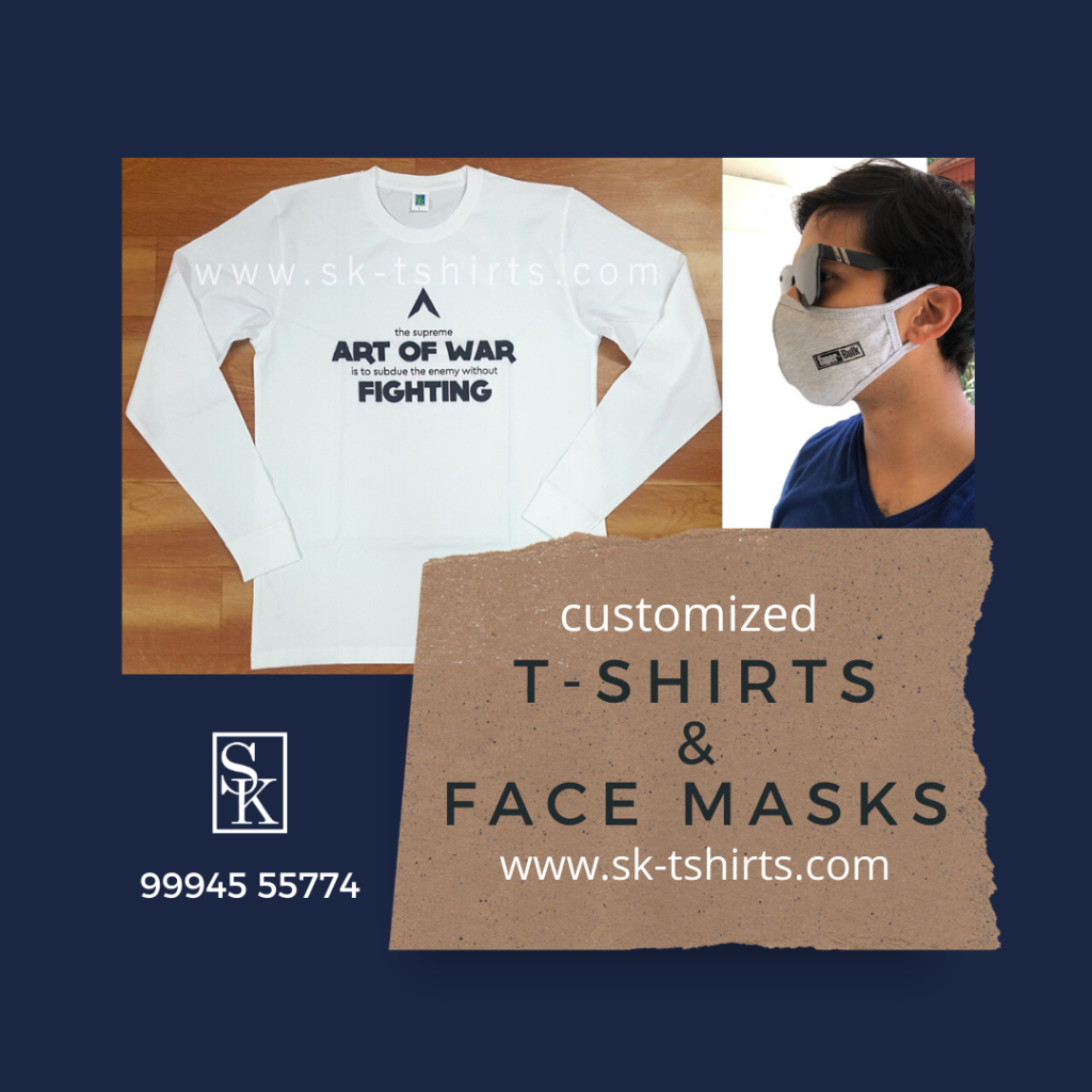 Best place to order Customized T-shirts and customized face masks in bulk near me ? Free delivery all over India