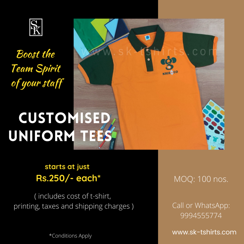 What is the best way to market your brand name and products/services for long lasting results? By Using Custom uniform t-shirts!