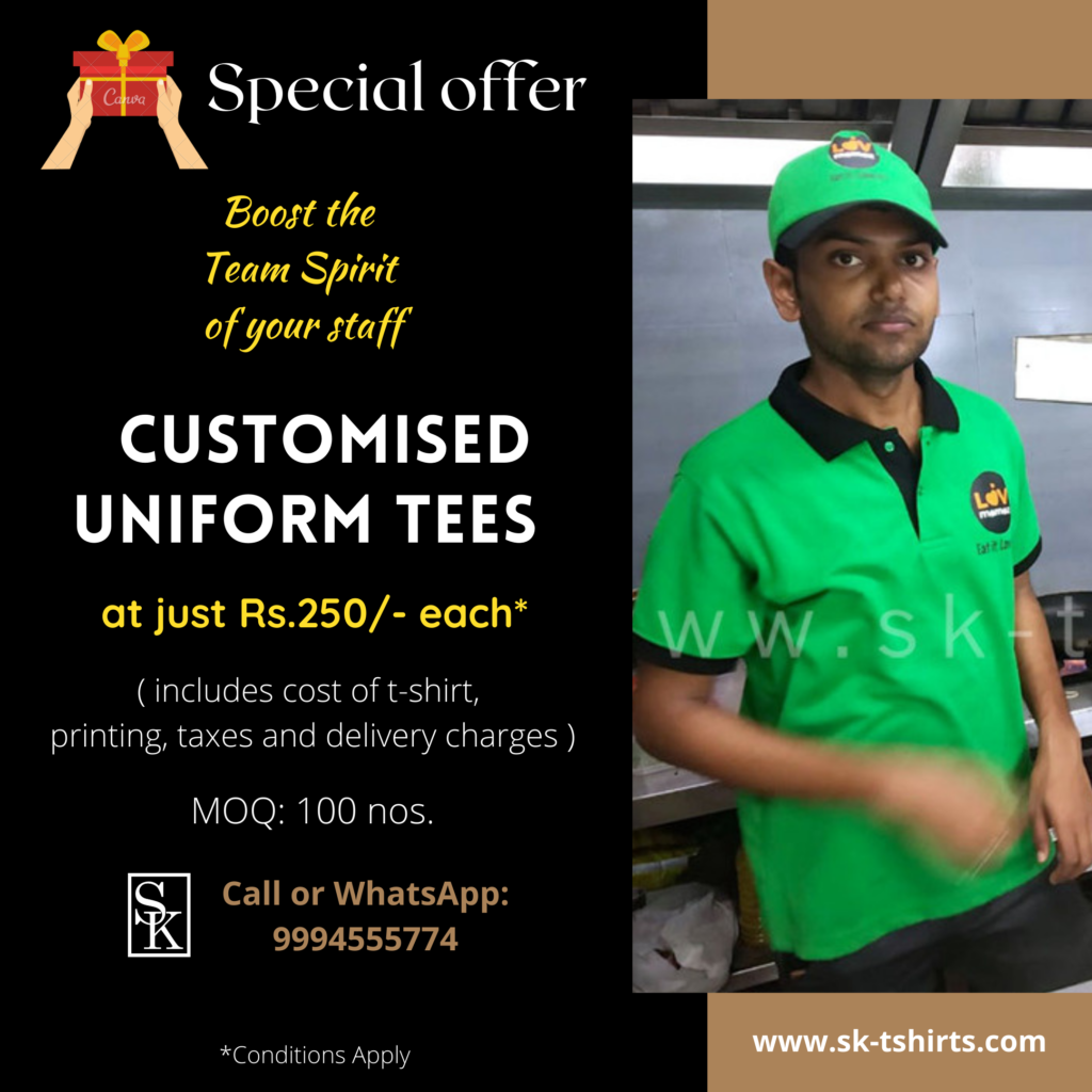 How to improve motivation and commitment among your employees to achieve company goals? By giving them customised uniform t-shirts.