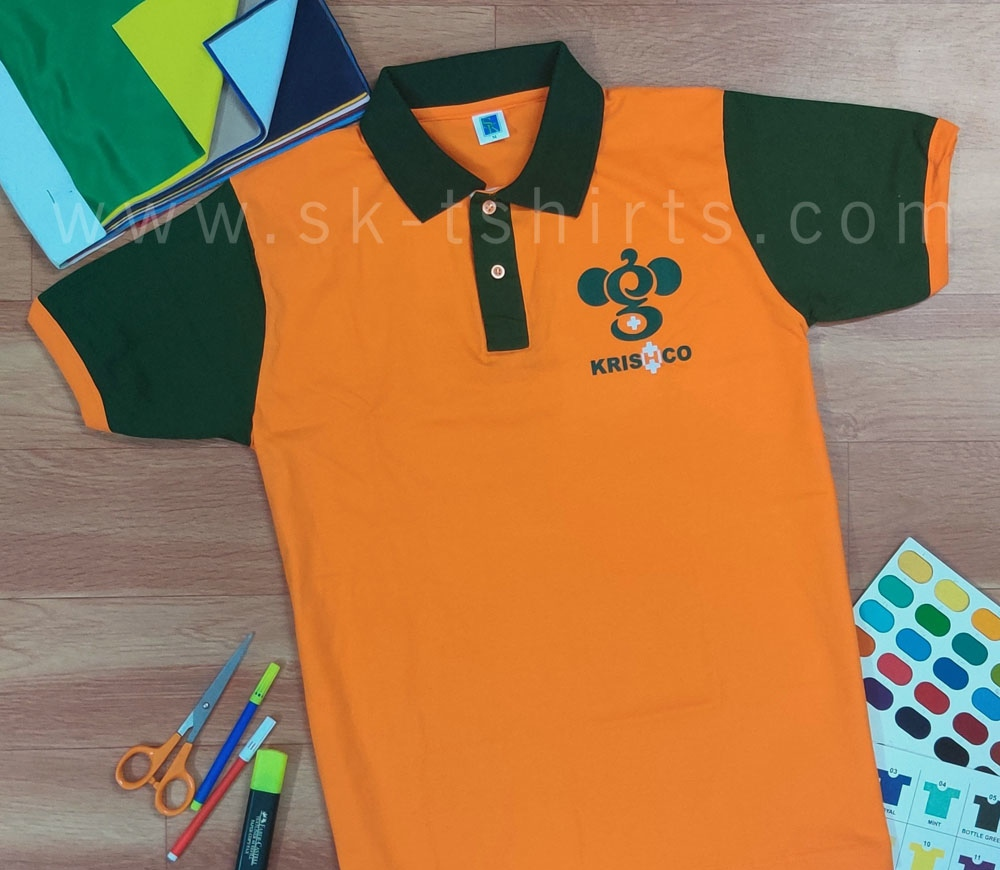 Custom T-shirt Printing with Name, logo etc. for company uniforms