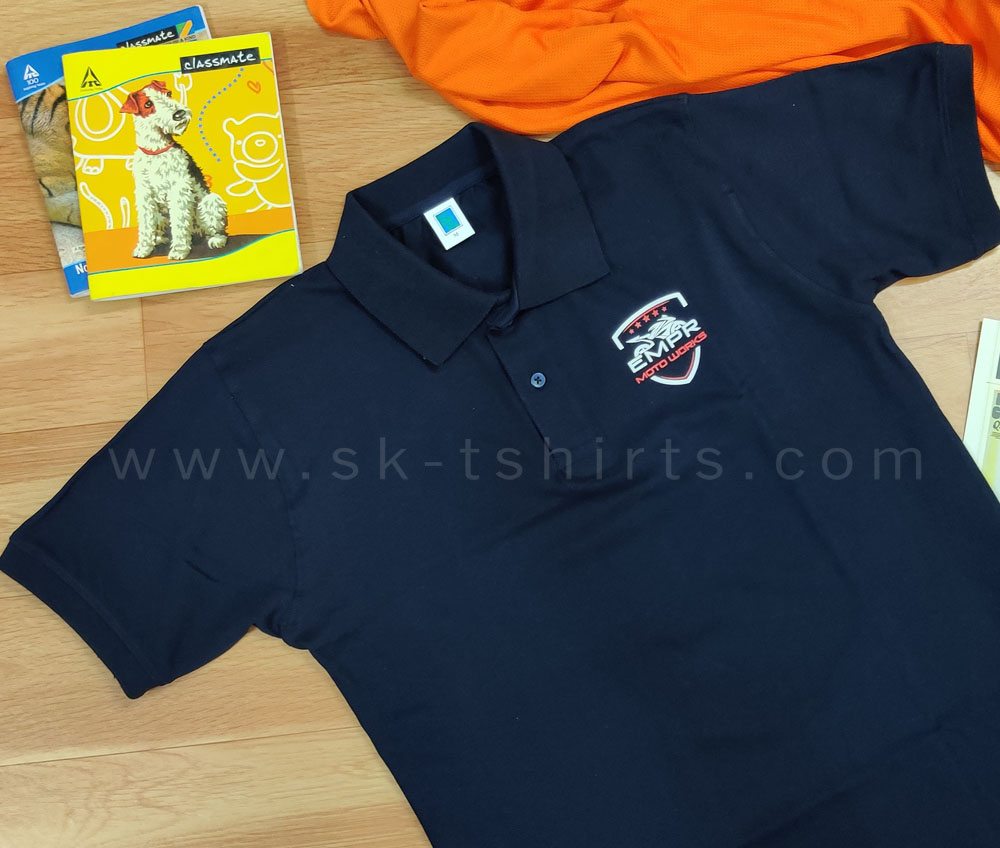 Manufacturer of Custom  t-shirts with logo for factory uniforms