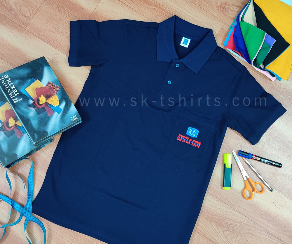 Leading Manufacturers of Custom T-shirt with Logo embroidery