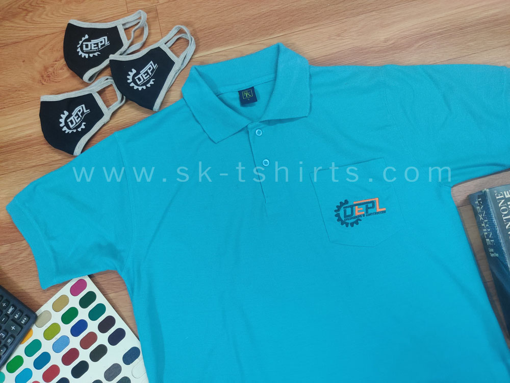 Custom made uniform                   t-shirts and face masks for factory staff & workers