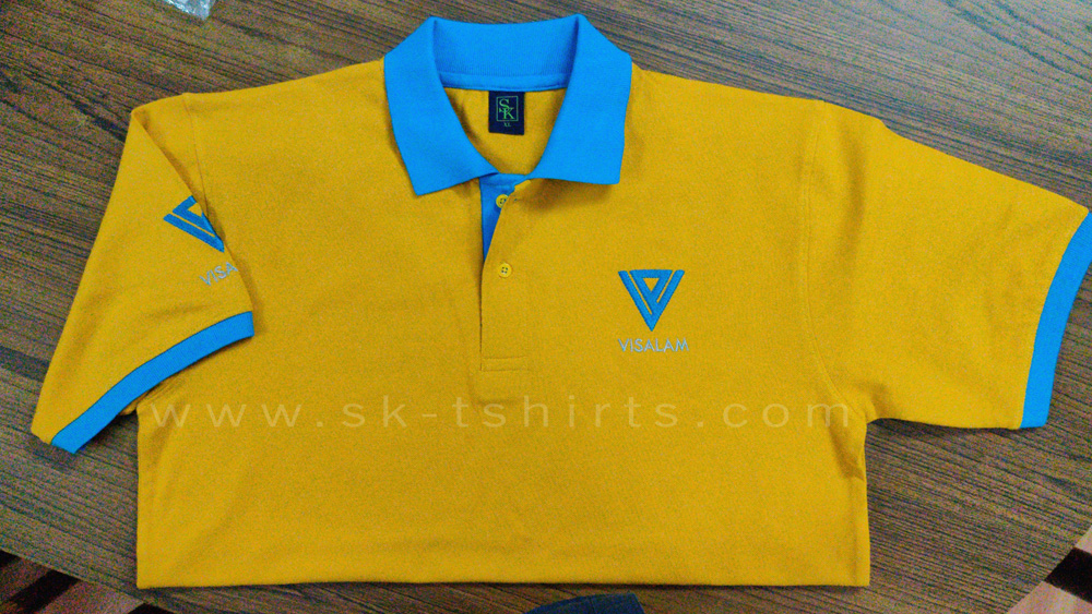 Custom polo t-shirt: Quality uniform t-shirts with logo printing or embroidery
