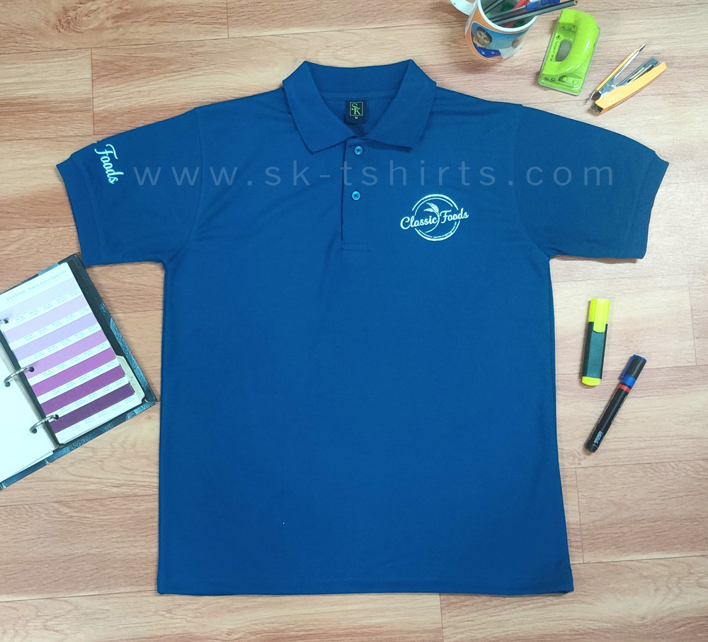 Polo T-shirt with logo printing for uniform