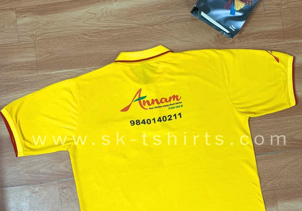 Restaurant / Catering services / Hotel / Cafe / Bar uniform t.shirts with logo printing